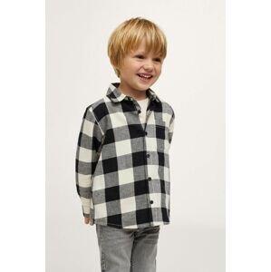 Mango Kids - Dětská bavlněná košile Lenny