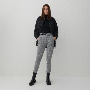 Reserved - Kalhoty s páskem - Krémová