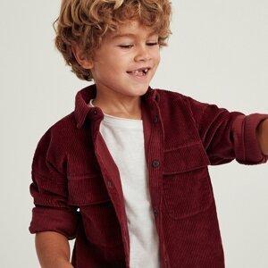 Reserved - Manšestrová košile na knoflíky - Červená