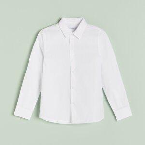 Reserved - Boys` shirt - Bílá