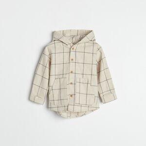 Reserved - Bavlněná košile skapucí - Krémová