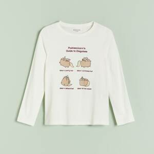 Reserved - Girls` t-shirt - Krémová
