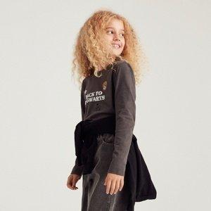Reserved - Bavlněné tričko sdlouhými rukávy Harry Potter - Šedá