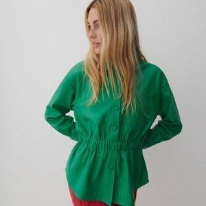 Reserved - Košile z imitace kůže - Zelená