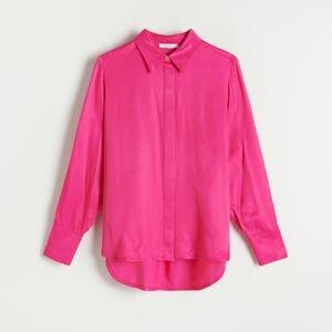 Reserved - Košile z viskózy - Růžová