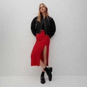 Reserved - Viskózová sukně - Červená
