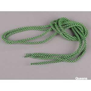 MD Tube Laces Rope Multi černé / neon zelené
