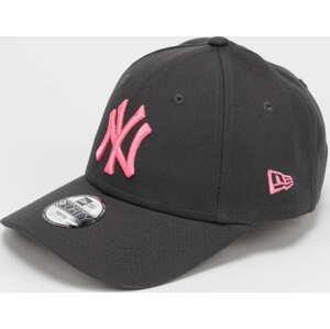 New Era 940 MLB Neon Pack NY tmavě šedá / neon růžová