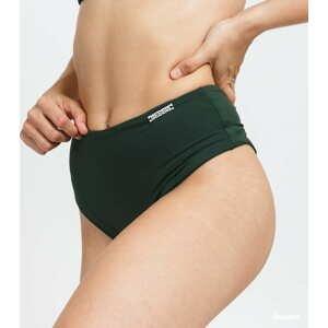 Nebbia High-Waist Retro Bikini tmavě zelené S