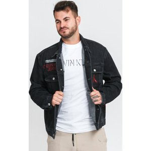 CALVIN KEIN JEANS Regular Denim Jacket wash black logo print