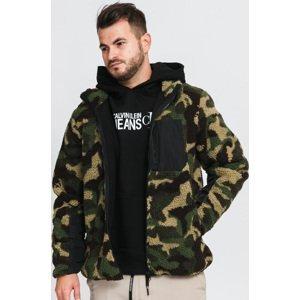 Urban Classics Sherpa Jacket camo zelená