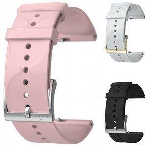 Suunto Suunto3Fitness Silikonový řemínek k hodinkám Suunto 3 a Suunto 3 Fitness bílý se zlatou sponou