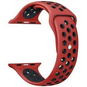 4wrist Silikonový řemínek pro Apple Watch - Červená/Černá 42/44 mm