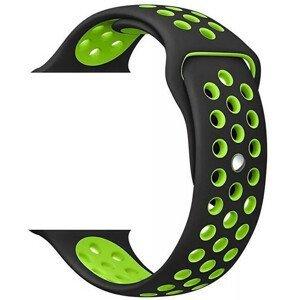 Wotchi Silikonový řemínek pro Apple Watch Černá/Zelená 42/44 mm