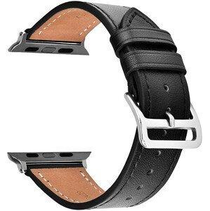 4wrist Kožený řemínek pro Apple Watch - Černý 42/44 mm