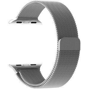 4wrist Ocelový milánský tah pro Apple Watch - Stříbrný 42/44 mm