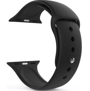 4wrist Silikonový řemínek pro Apple Watch - Černý 42/44 mm - S/M