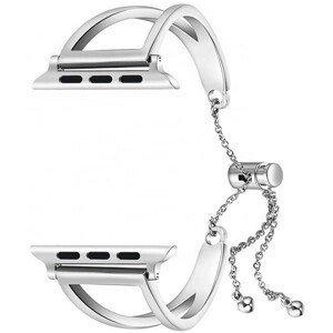 4wrist Nastavitelný ocelový tah pro Apple Watch - Stříbrný 42/44 mm
