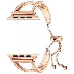 4wrist Nastavitelný ocelový tah pro Apple Watch - Růžové zlato 38/40 mm