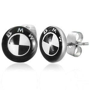 Ocelové náušnice - logo automobilové značky