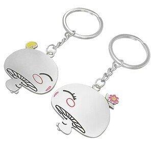 Přívěsky na klíče pro dvojici - zamilované houbičky