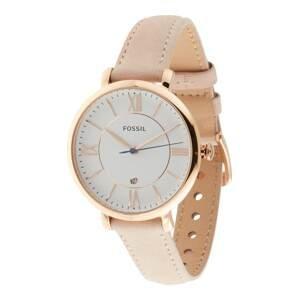 FOSSIL Analogové hodinky  růžově zlatá / pudrová / bílá / modrá