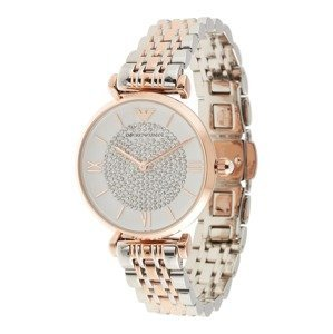 Emporio Armani Analogové hodinky 'AR1926'  zlatá / stříbrná / bílá
