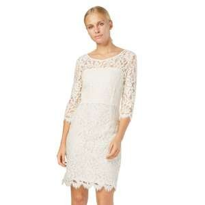 SET Koktejlové šaty  bílá