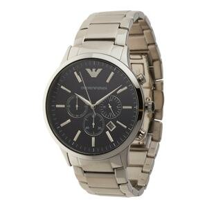 Emporio Armani Analogové hodinky  stříbrná / černá