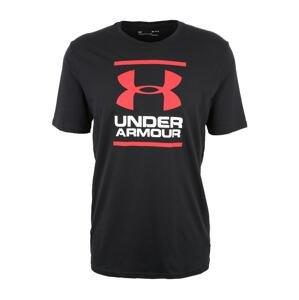 UNDER ARMOUR Funkční tričko  černá / bílá / světle červená