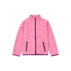 PLAYSHOES Fleecová mikina  pink / tmavě fialová