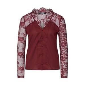 Fashion Union Halenka 'ELIZABETH'  burgundská červeň