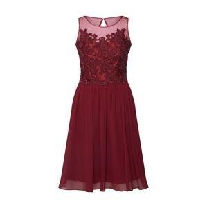 mascara Koktejlové šaty 'LACE KEYHOLE'  vínově červená