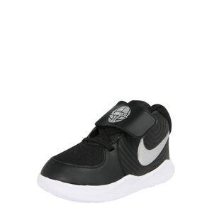 NIKE Sportovní boty 'TEAM HUSTLE D 9 (TD)'  černá / bílá