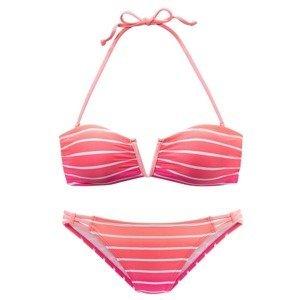 VENICE BEACH Bikiny  pink / bílá / lososová