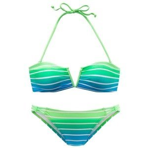 VENICE BEACH Bikiny  svítivě zelená / nebeská modř / bílá