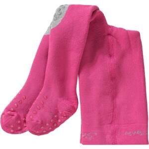 STERNTALER Punčocháče  pink / světle šedá