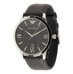 Emporio Armani Analogové hodinky  černá / stříbrná
