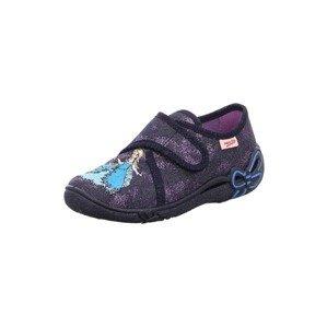 SUPERFIT Pantofle 'BELINDA'  modrá džínovina / fialová / žlutá / světlemodrá