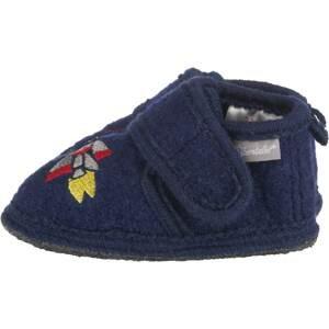 STERNTALER Pantofle  tmavě modrá / stříbrná / limone / ohnivá červená