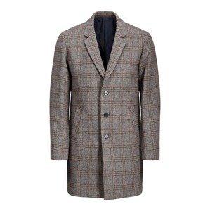 JACK & JONES Přechodný kabát  hnědý melír / čedičová šedá / šedý melír