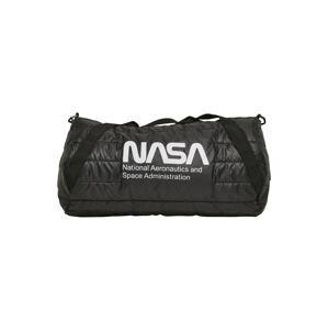 Urban Classics Cestovní taška 'NASA'  černá / bílá