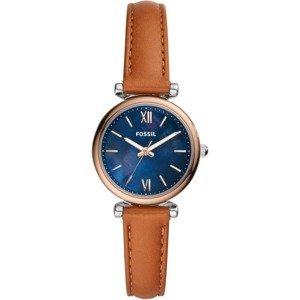 FOSSIL Analogové hodinky  růžově zlatá / modrá / koňaková