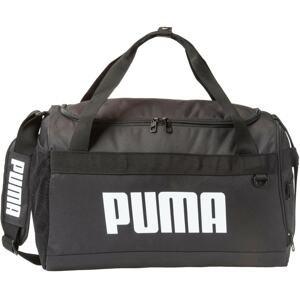 PUMA Sportovní taška  černá / bílá