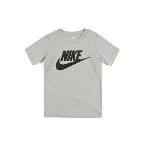 Nike Sportswear Tričko 'NIKE FUTURA S/S TEE'  šedý melír