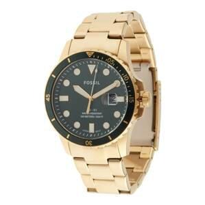 FOSSIL Analogové hodinky  zlatá / smaragdová