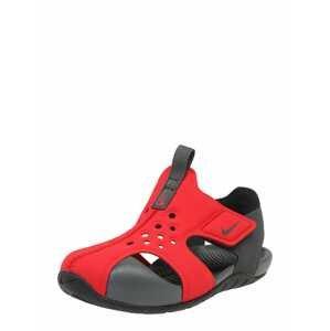 Nike Sportswear Plážová/koupací obuv 'Sunray Protect 2 (TD)'  červená / černá