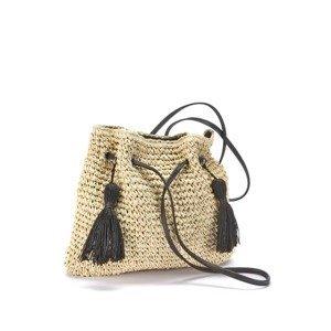 LASCANA Plážová taška  béžová / tmavě hnědá