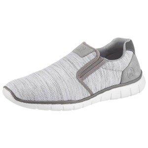 RIEKER Slip on boty  světle šedá / šedá