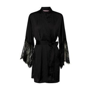 Hunkemöller Negližé 'Kimono Lace'  černá